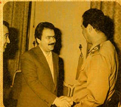 در کنار صدام حسین 1